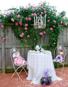 ceai in gradina trandafiri